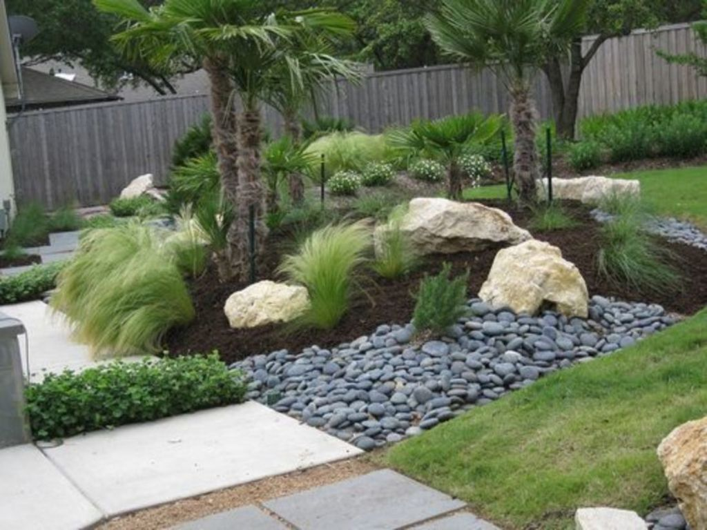 Beautiful Modern Rock Garden Ideas For Backyard Landscaping 21
