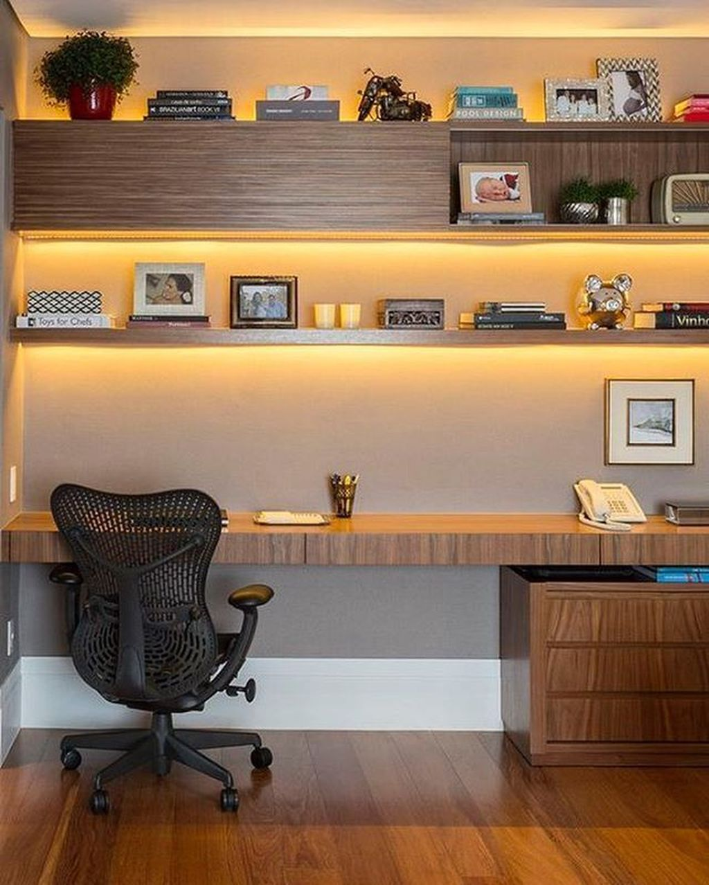 Amazing Contemporary Home Office Design Ideas 25