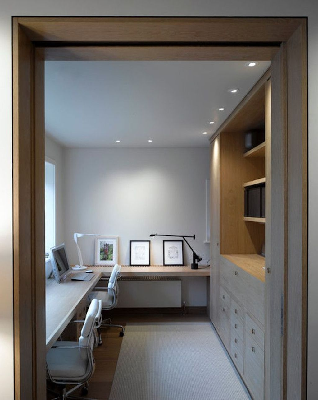 Amazing Contemporary Home Office Design Ideas 37