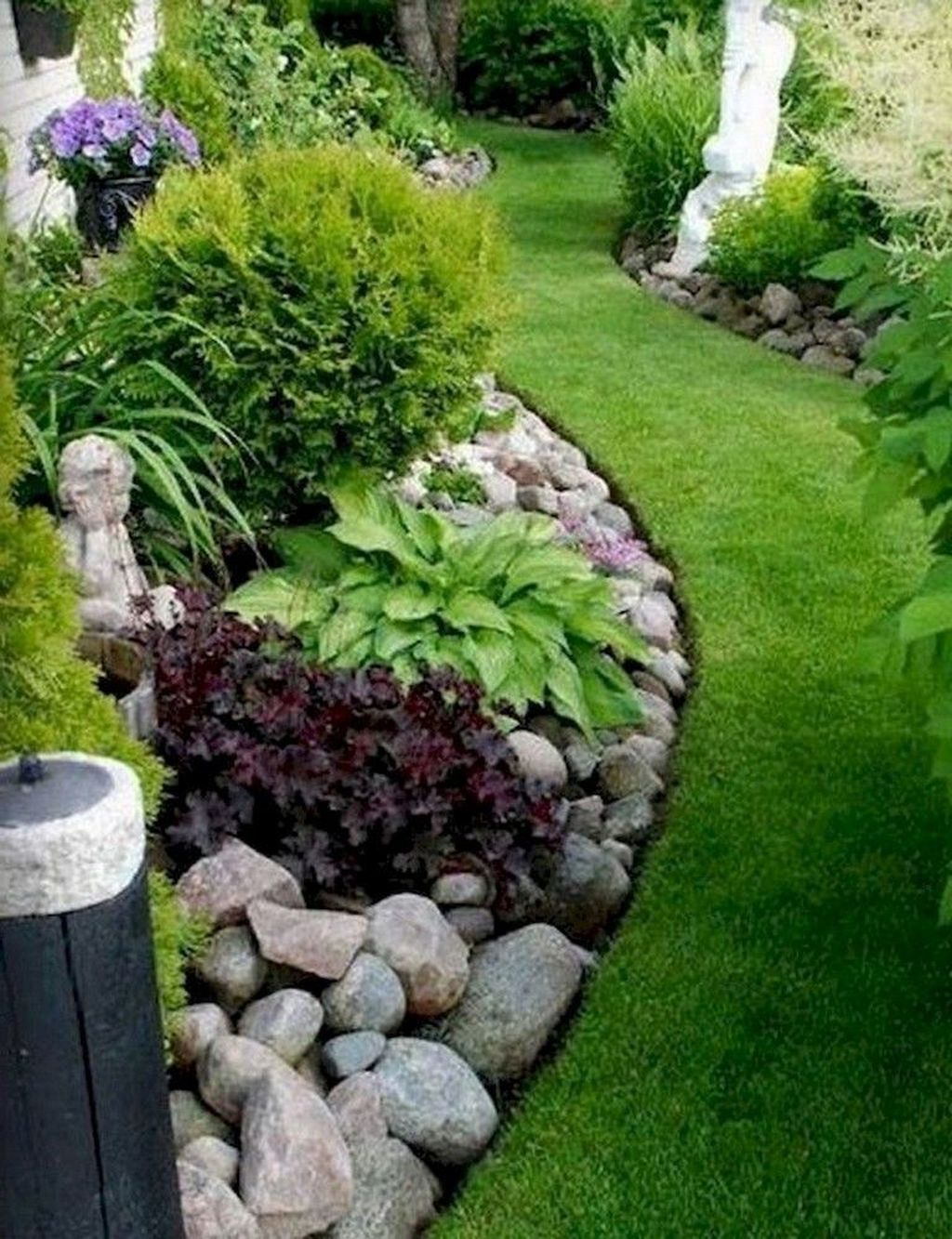 Awesome Backyard Landscaping Ideas With Elegant Accent 37