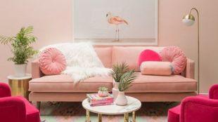 Beautiful Pink Living Room Decor Ideas 18