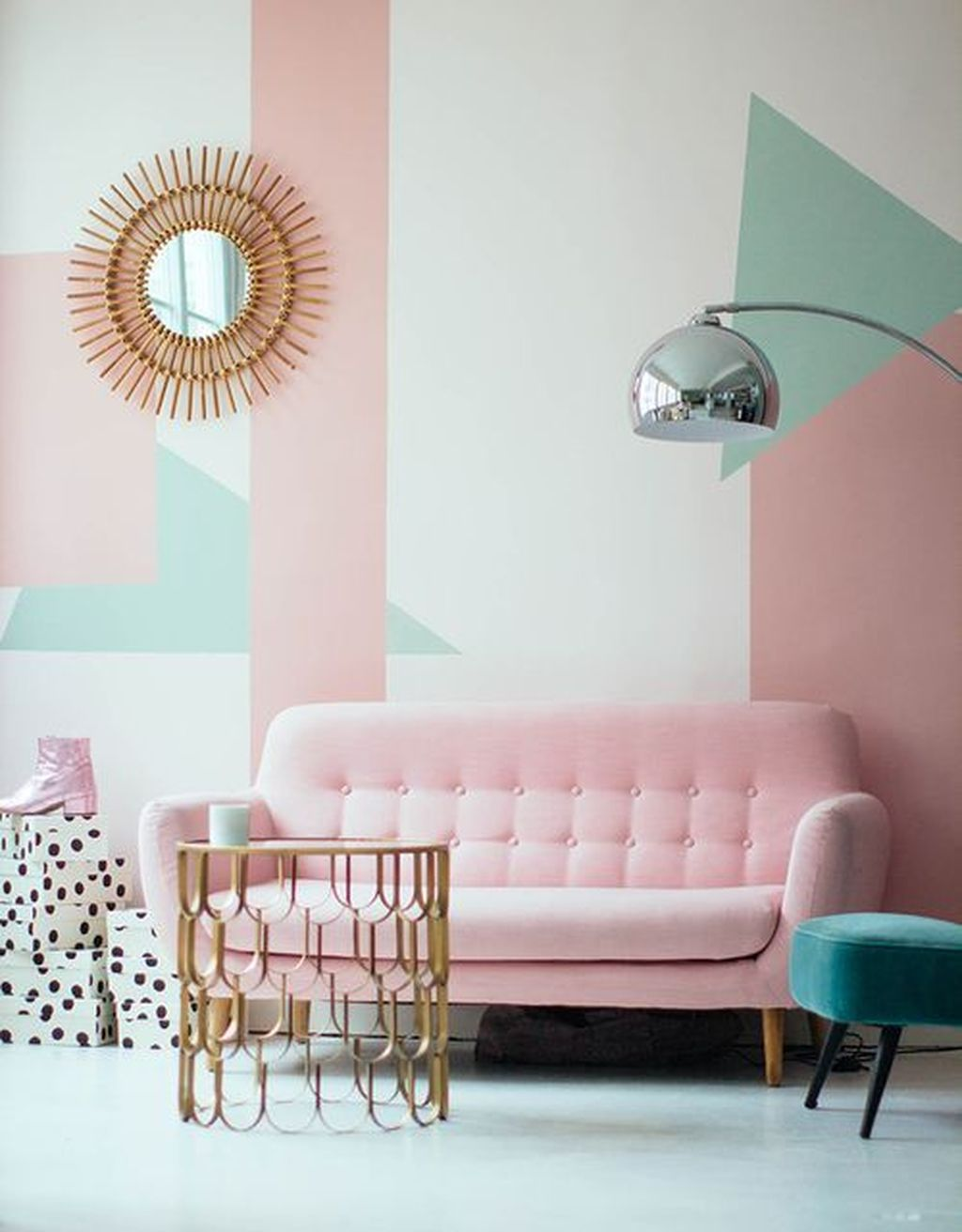 Beautiful Pink Living Room Decor Ideas 23