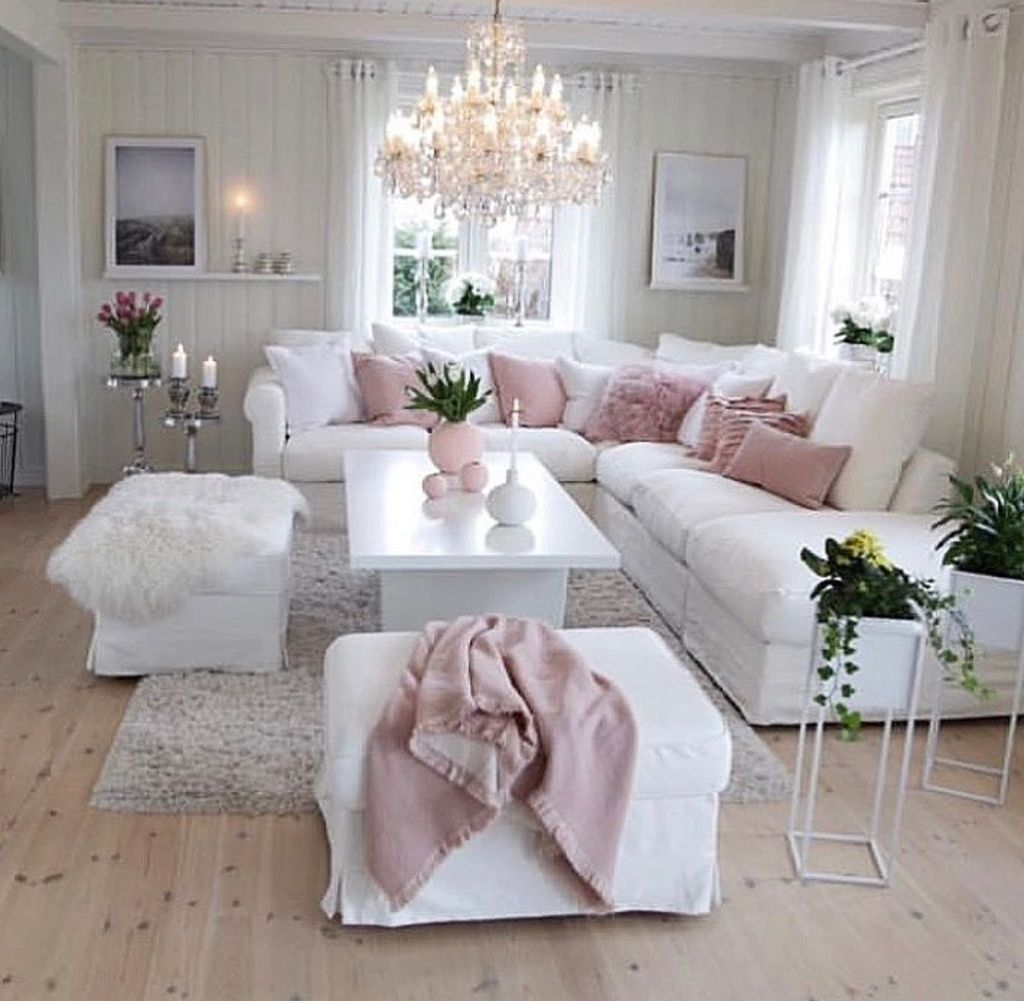 Beautiful Pink Living Room Decor Ideas 25