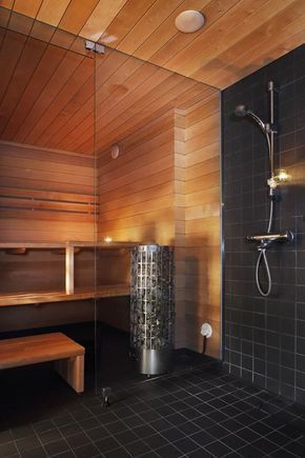 Beautiful Sauna Design Ideas For Your Bathroom 03