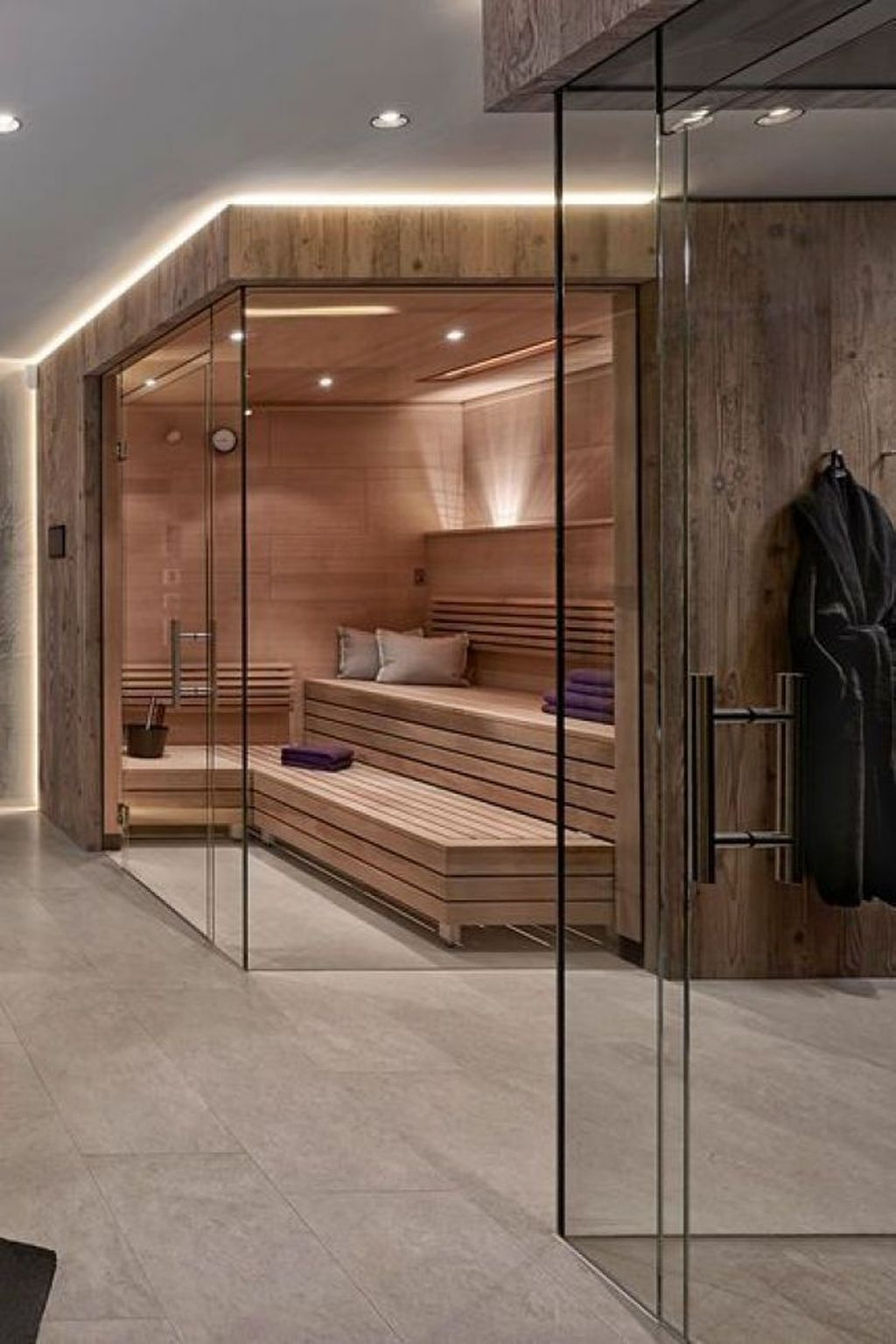 Beautiful Sauna Design Ideas For Your Bathroom 17