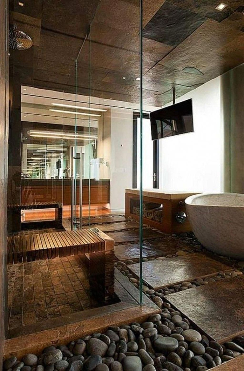 Beautiful Sauna Design Ideas For Your Bathroom 20
