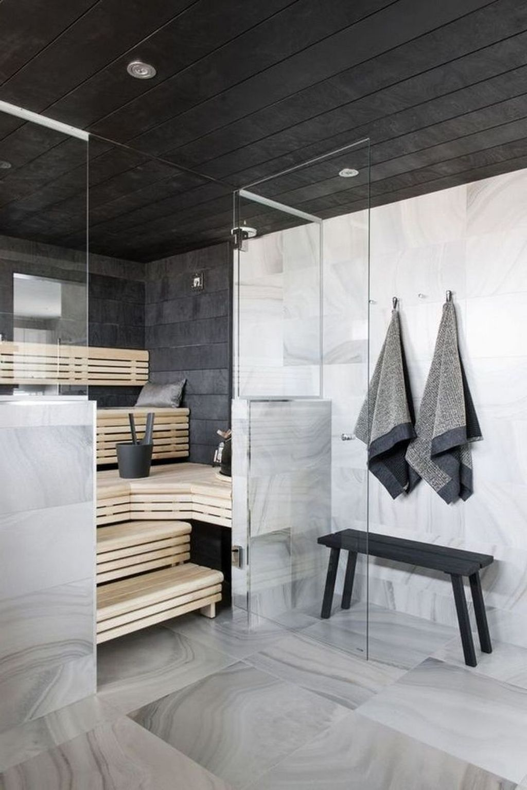 Beautiful Sauna Design Ideas For Your Bathroom 23