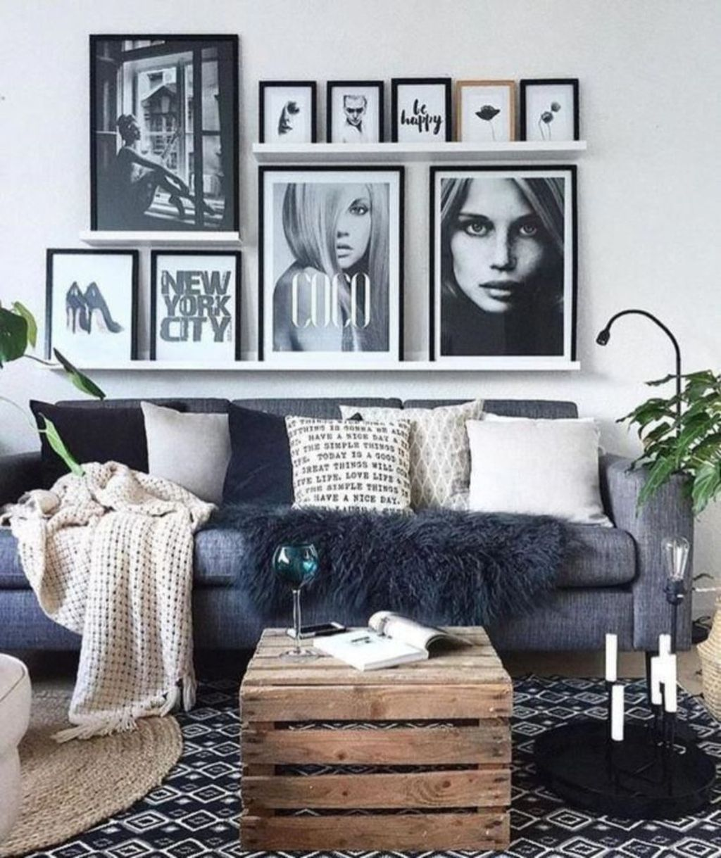 Beautiful Scandinavian Living Room Decoration Ideas 20