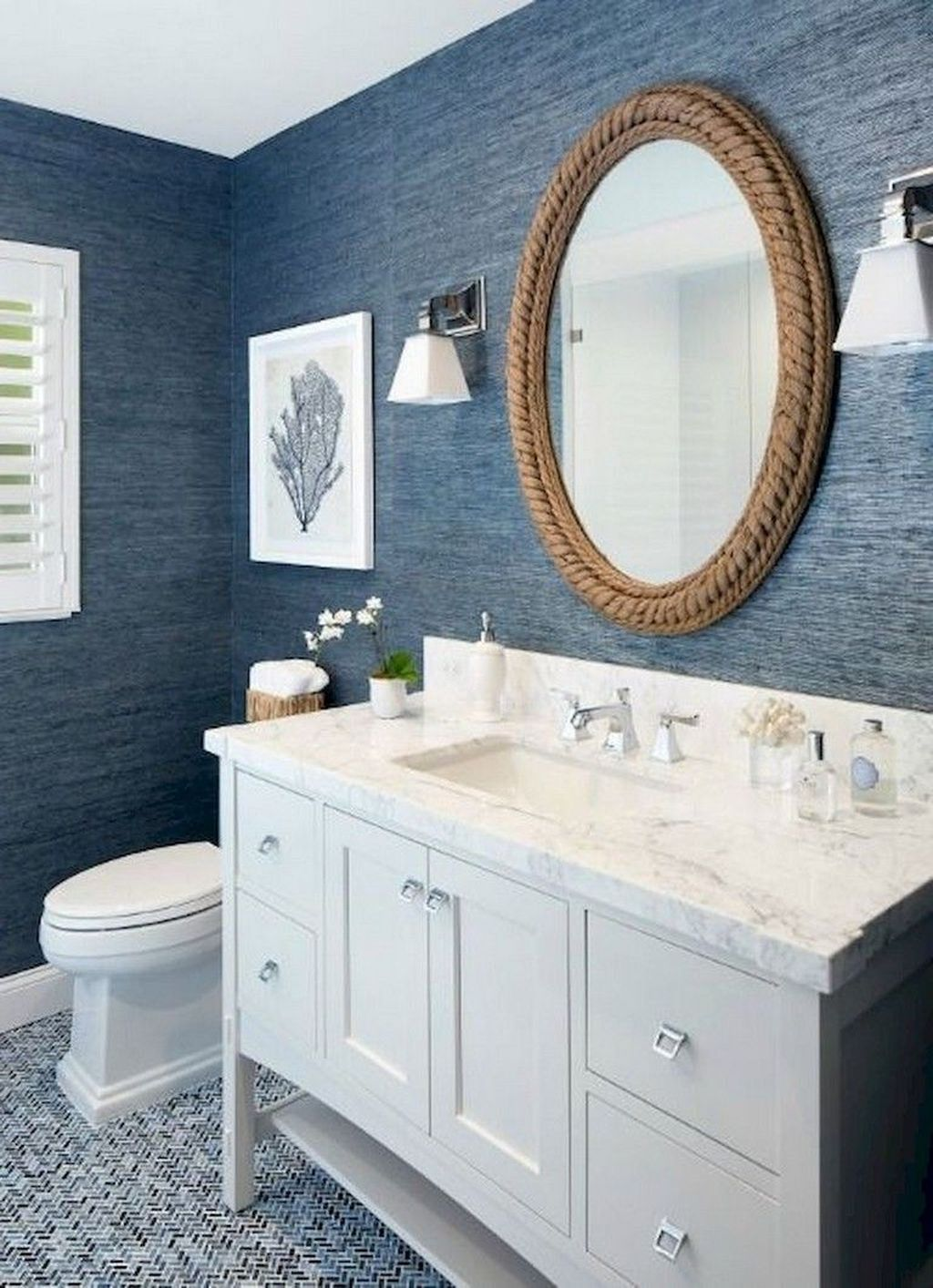 Fabulous Bathroom Decor Ideas With Coastal Style 23