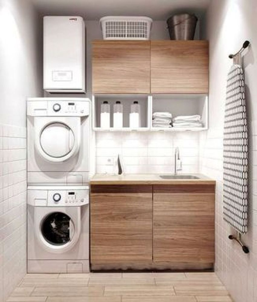 Inspiring Small Laundry Room Design And Decor Ideas 21