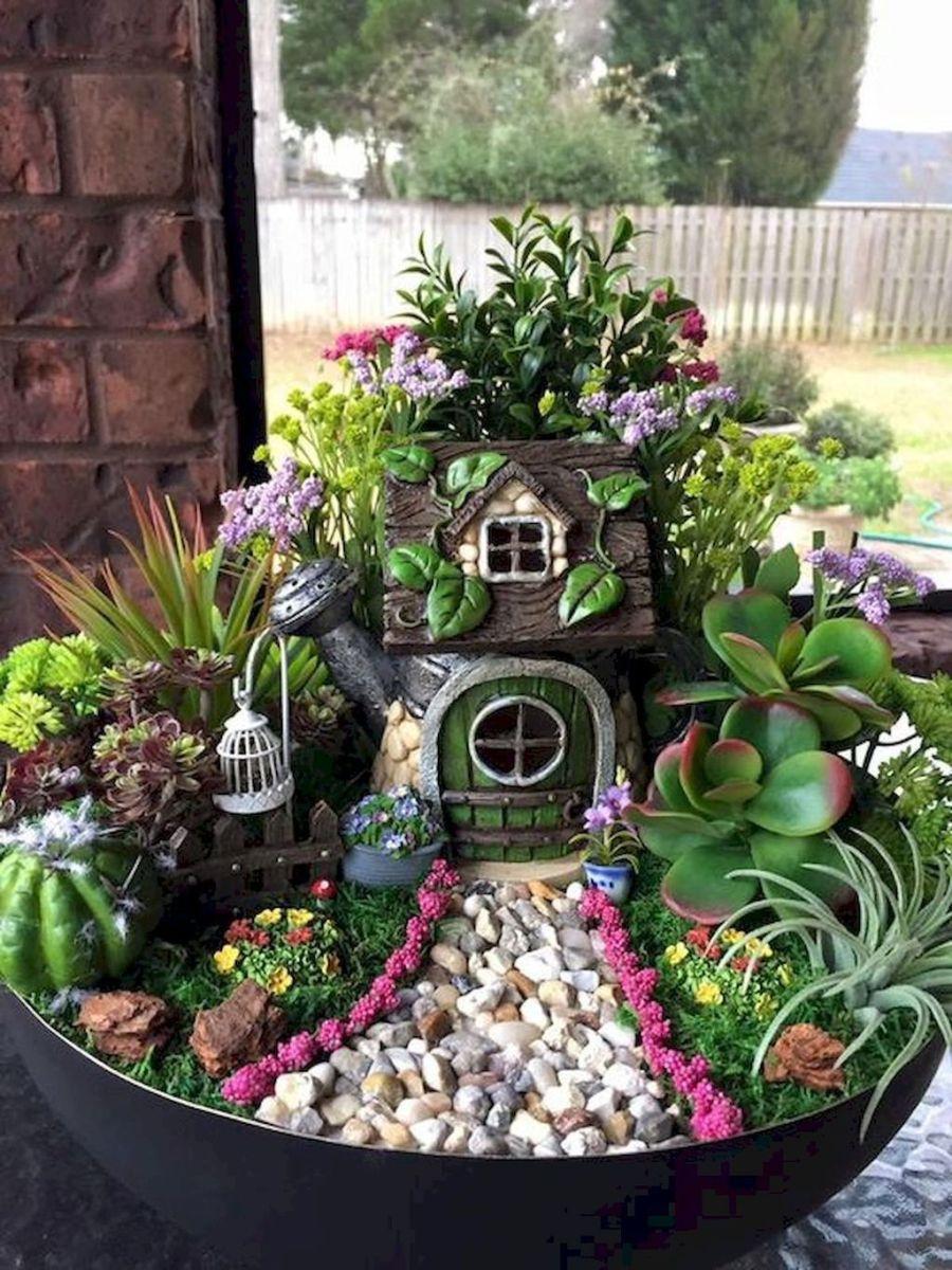 Lovely Beautiful Fairy Garden Design Ideas 27