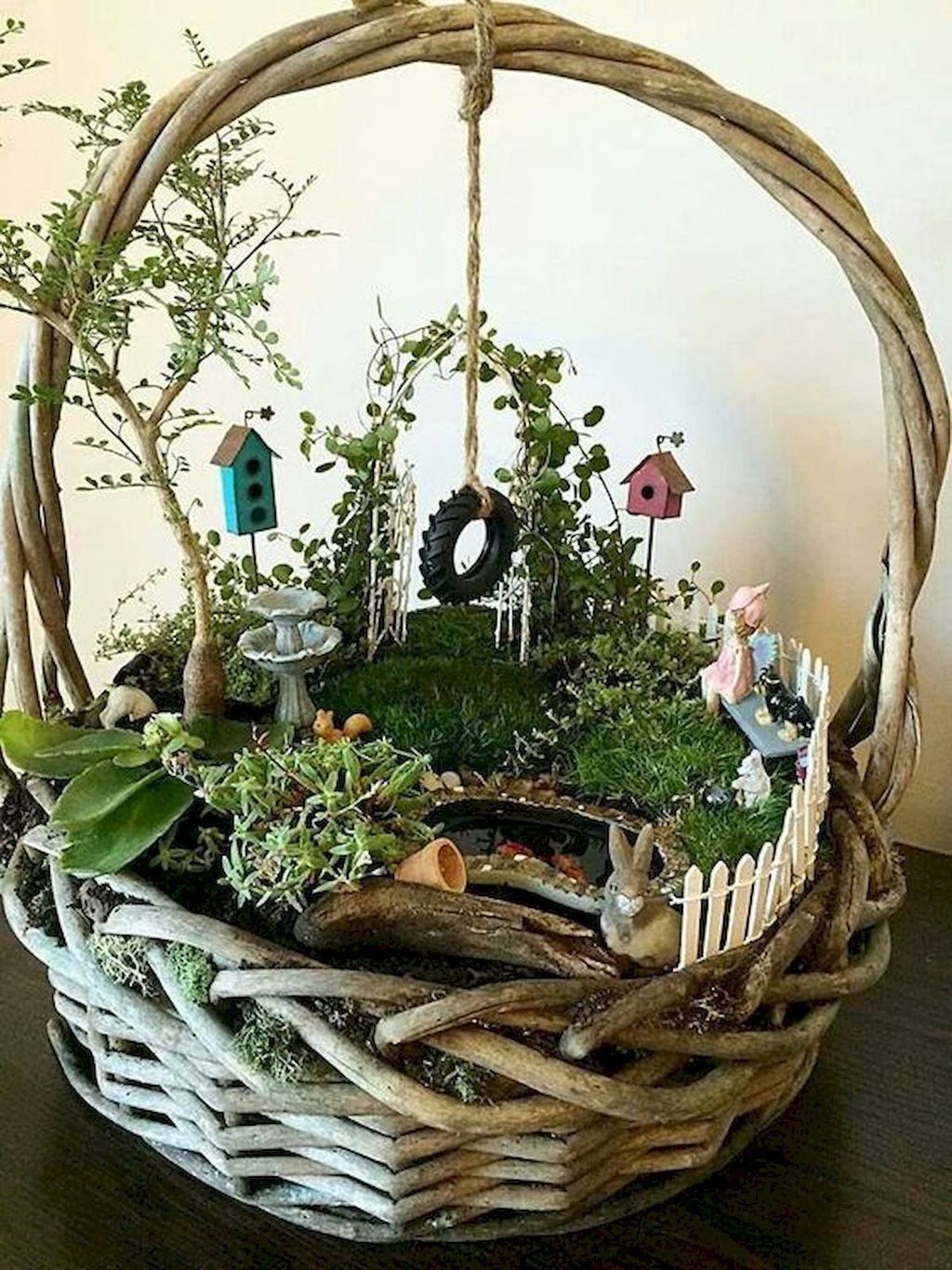Lovely Beautiful Fairy Garden Design Ideas 30