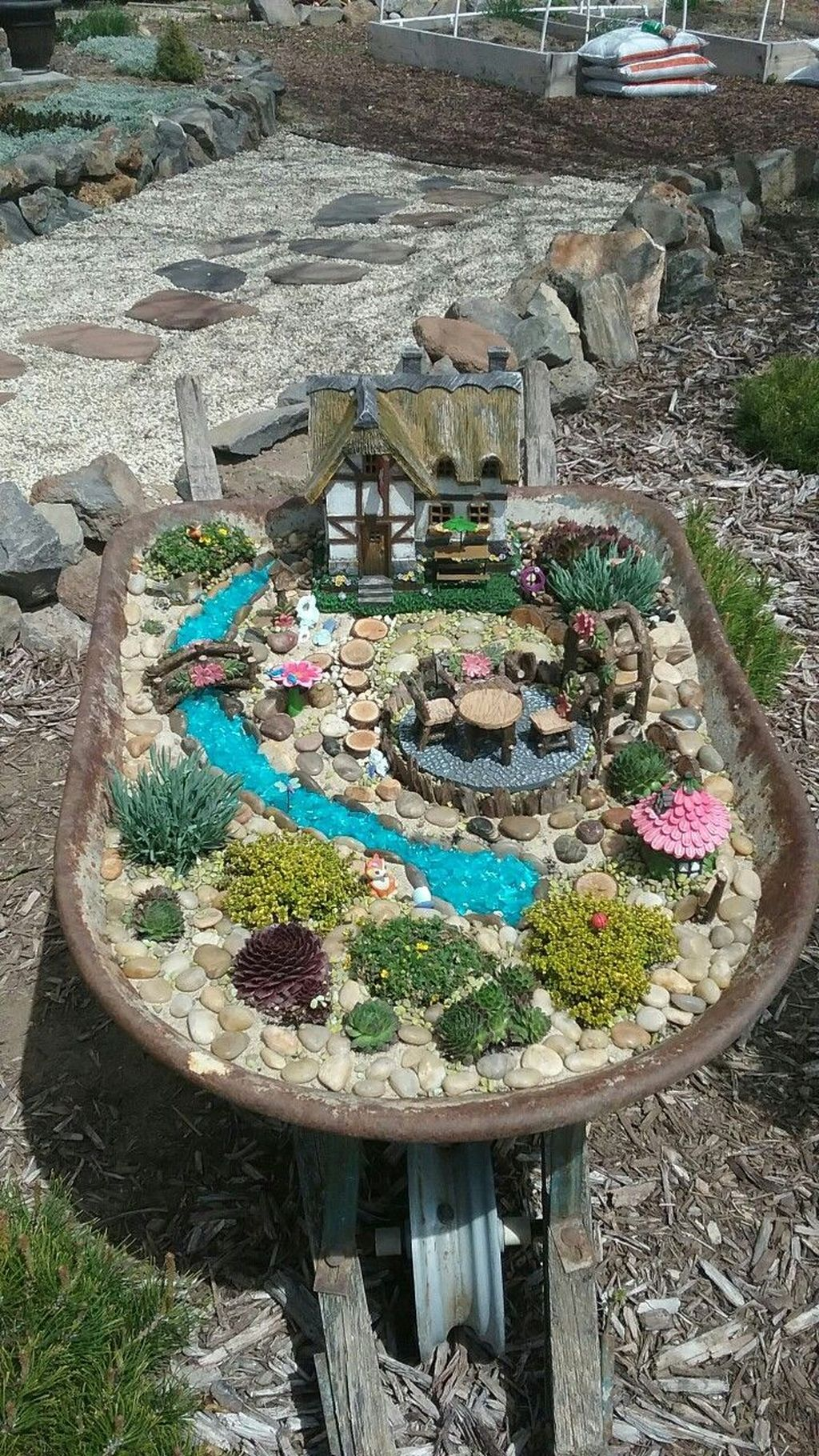 Lovely Beautiful Fairy Garden Design Ideas 31