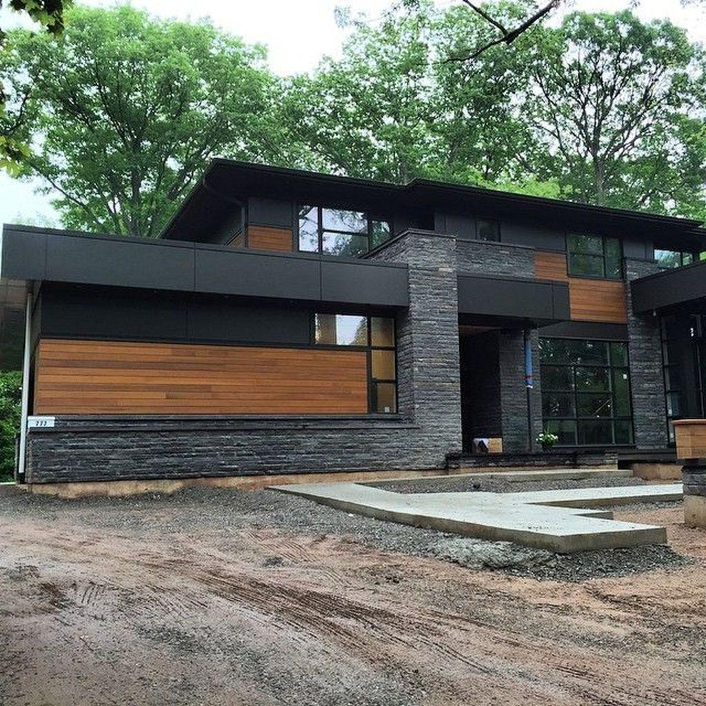 Lovely Modern Home Exterior Design Ideas 12