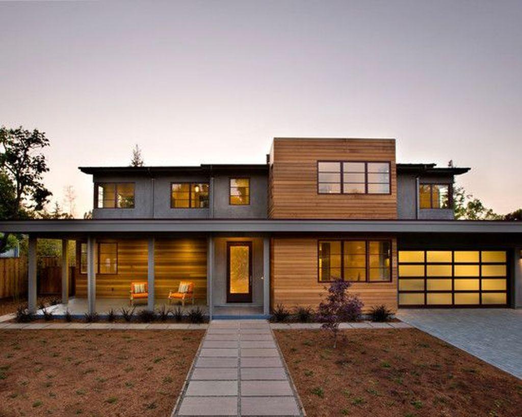 Lovely Modern Home Exterior Design Ideas 21