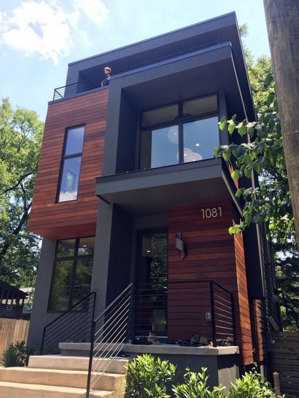Lovely Modern Home Exterior Design Ideas 30