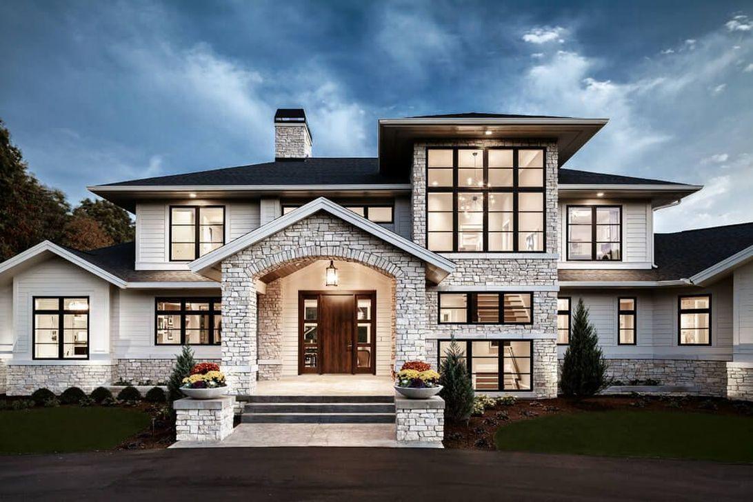 Lovely Modern Home Exterior Design Ideas 34