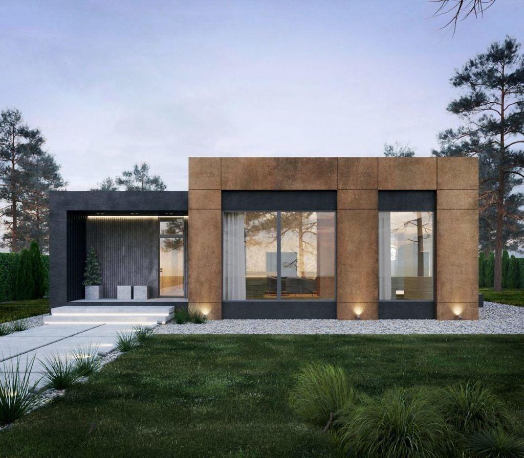 Lovely Modern Home Exterior Design Ideas 35
