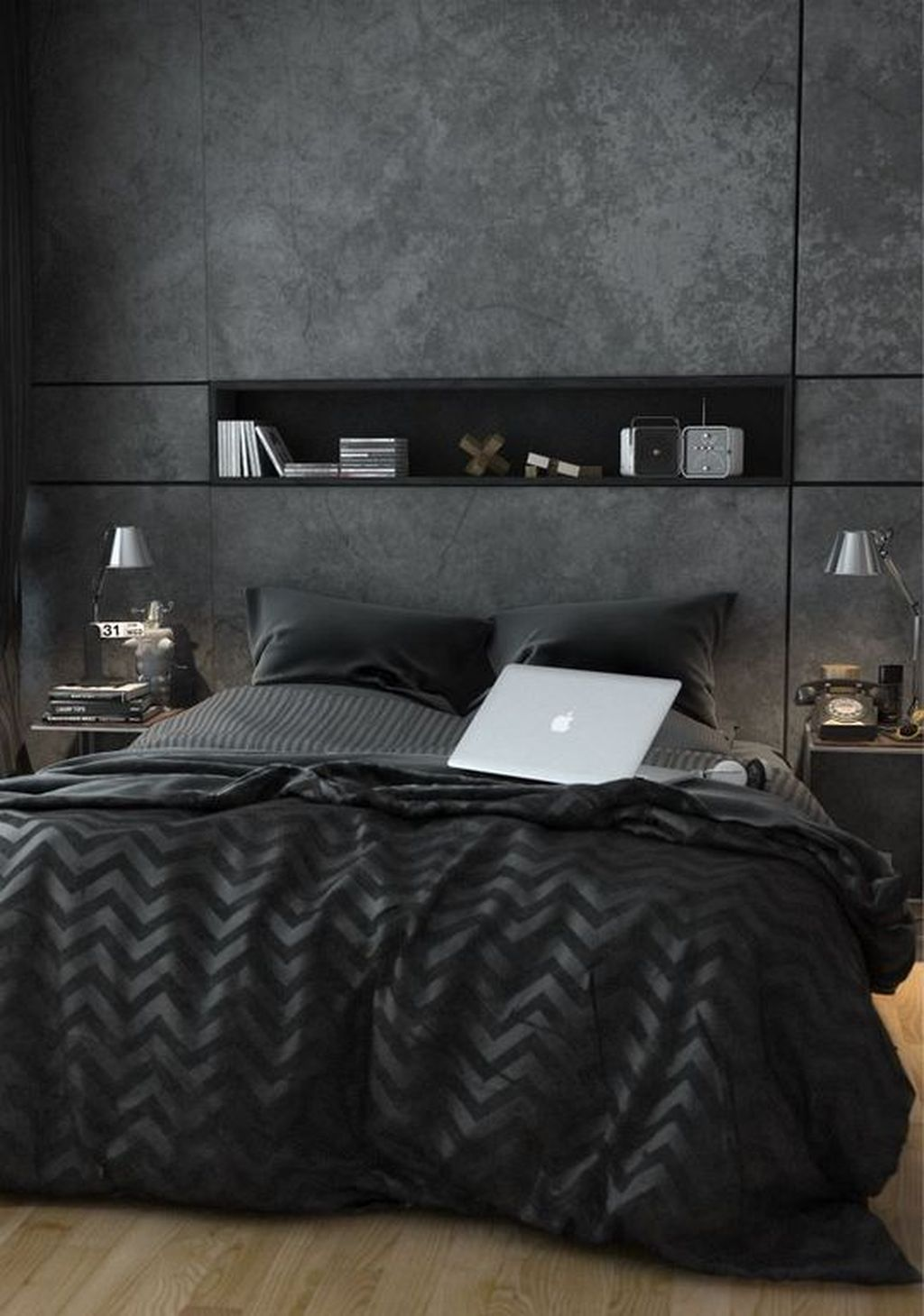 Popular Modern Man Bedroom With Elegant Look 05