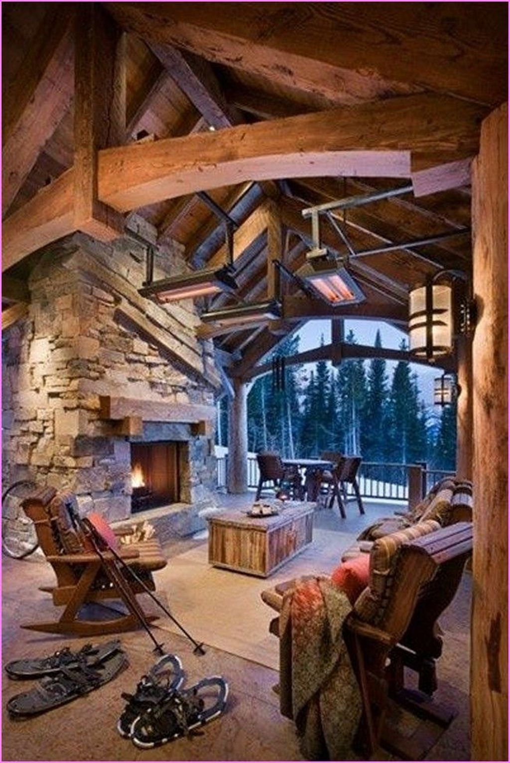 Stunning Lodge Living Room Decor Ideas 11