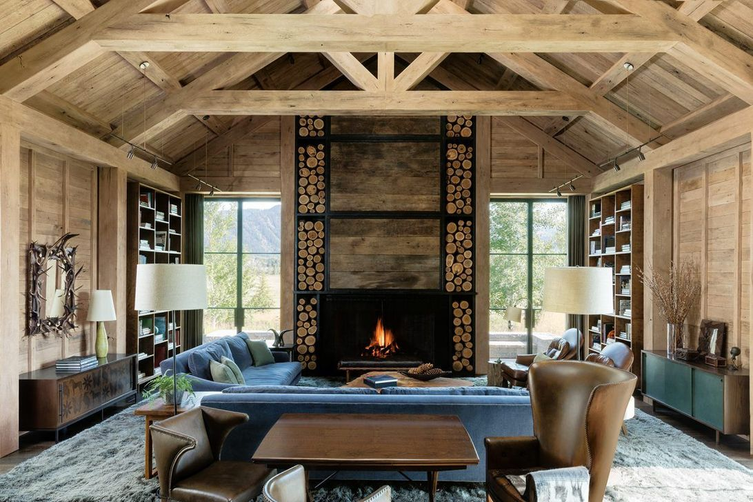 Stunning Lodge Living Room Decor Ideas 17