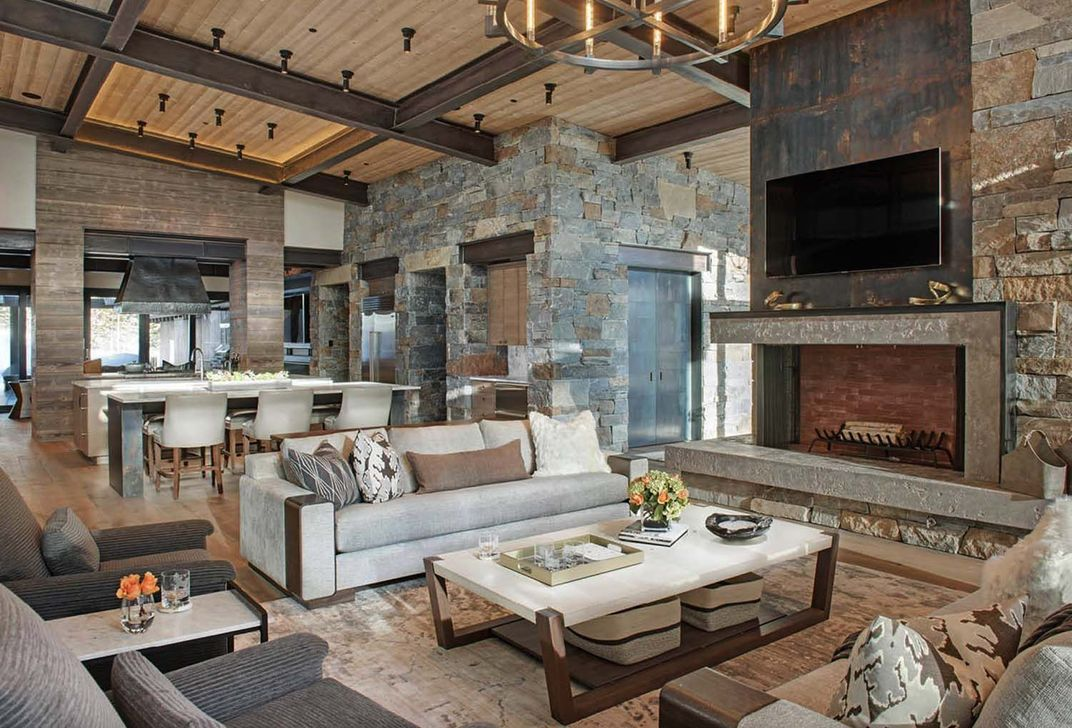 Stunning Lodge Living Room Decor Ideas 19