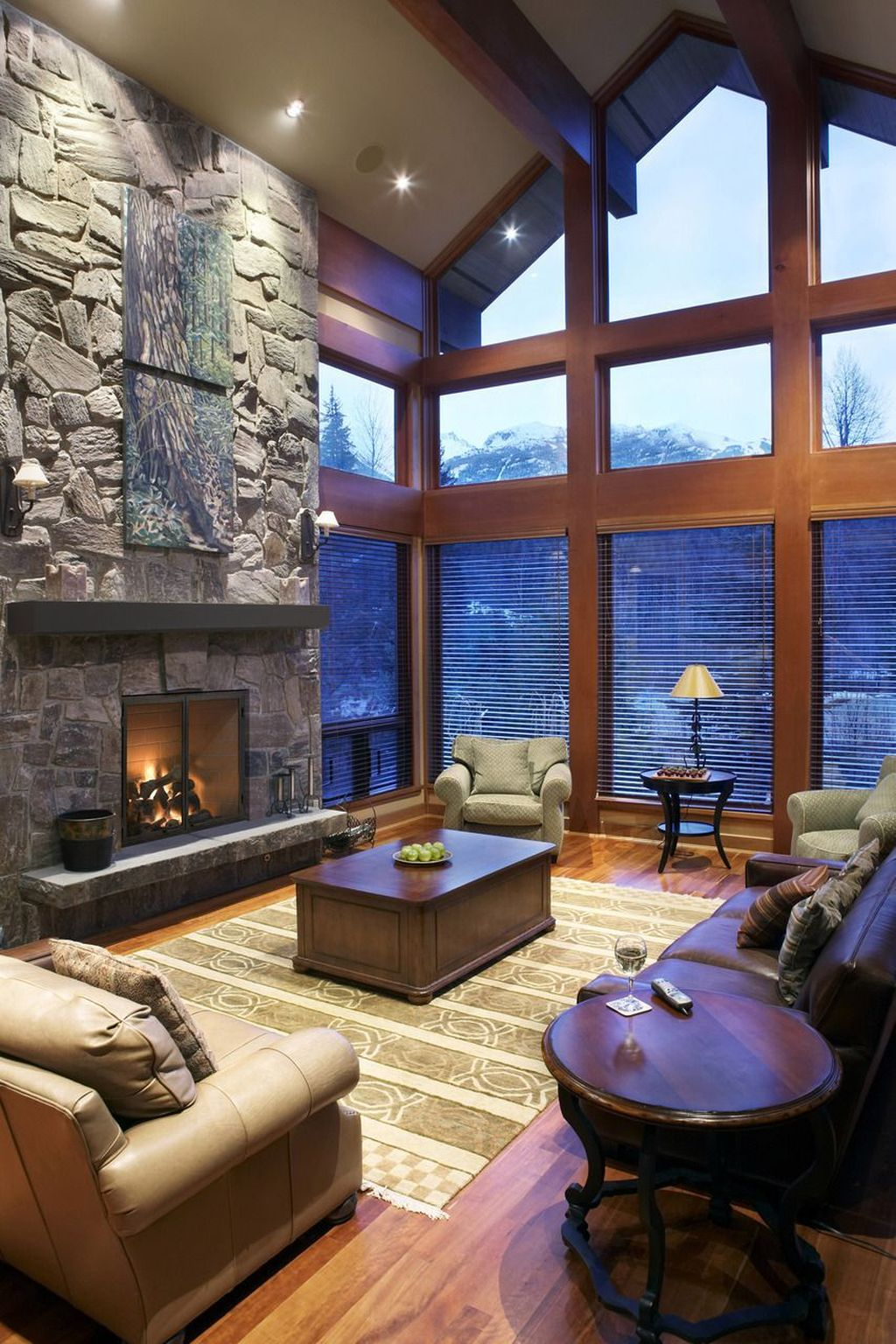 Stunning Lodge Living Room Decor Ideas 22