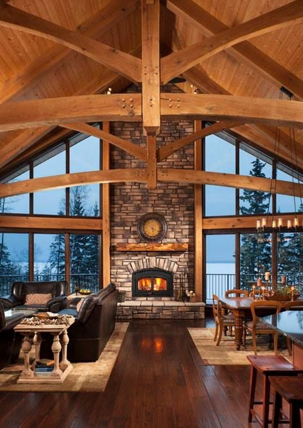 Stunning Lodge Living Room Decor Ideas 23