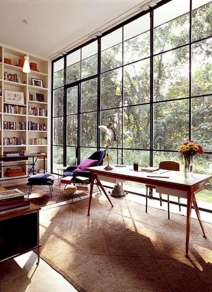 Stunning Modern Home Office Design Ideas 31