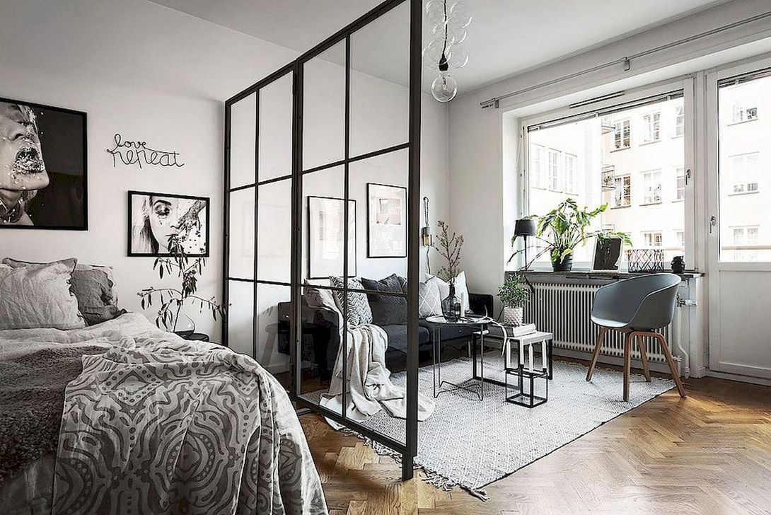 The Best Studio Apartment Layout Design Ideas 31