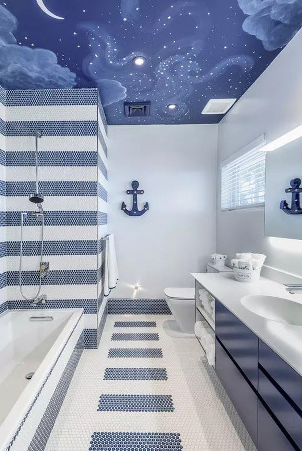 Awesome Coastal Style Bathroom Decorating Ideas 02