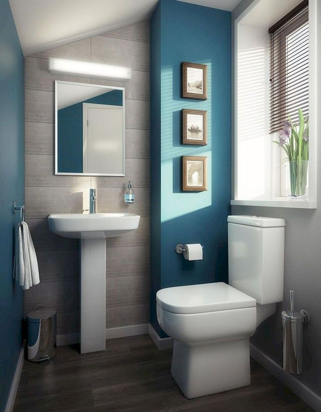 Awesome Coastal Style Bathroom Decorating Ideas 37