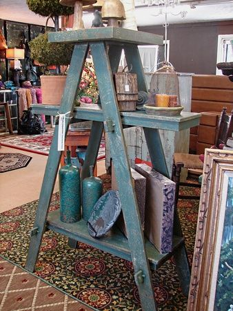 Gorgeous Vintage Ladder Decor Ideas 07
