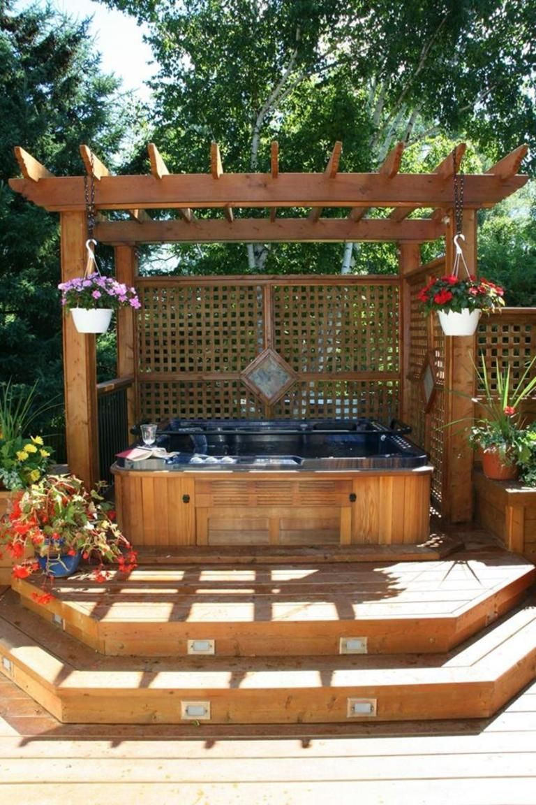 Inspiring Hot Tub Patio Design Ideas For Your Outdoor Decor 07