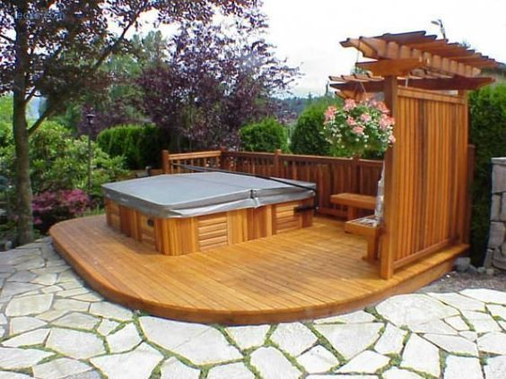 Inspiring Hot Tub Patio Design Ideas For Your Outdoor Decor 08
