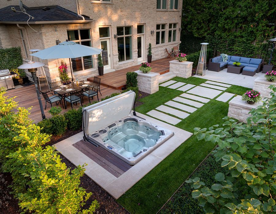 Inspiring Hot Tub Patio Design Ideas For Your Outdoor Decor 12