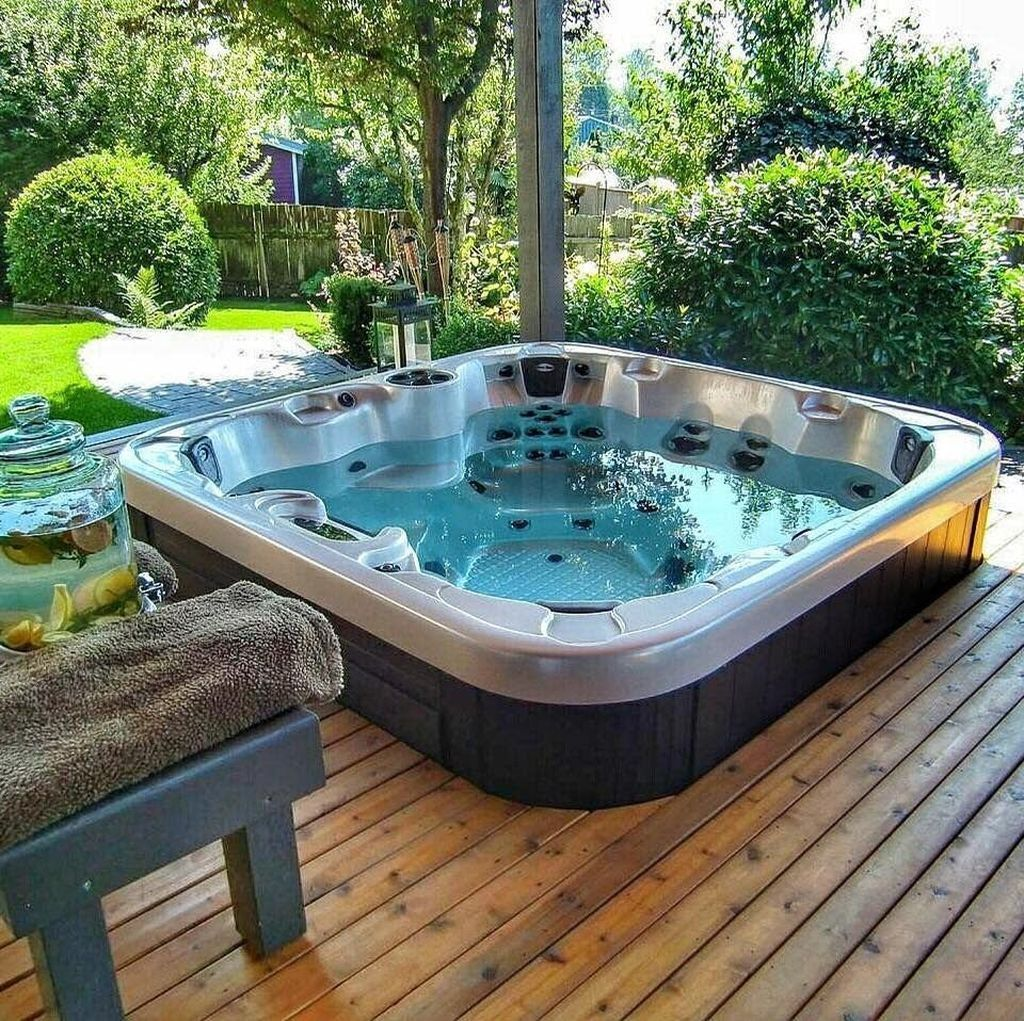 Inspiring Hot Tub Patio Design Ideas For Your Outdoor Decor 24