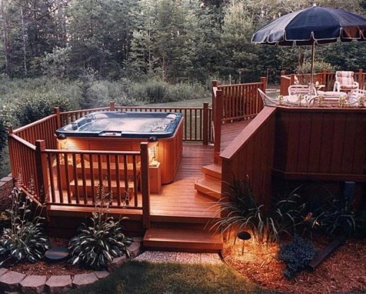 Inspiring Hot Tub Patio Design Ideas For Your Outdoor Decor 33