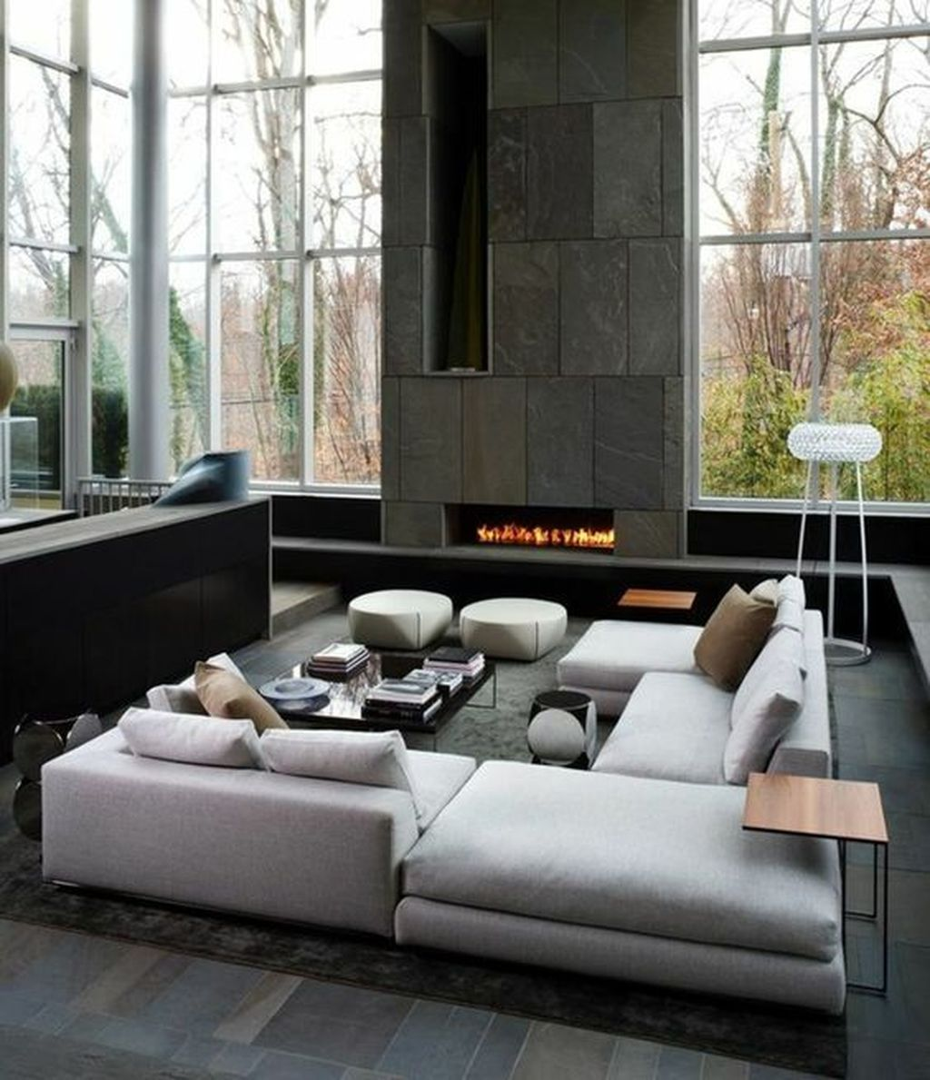 Luxury Living Room Design Ideas With Modern Accent 35
