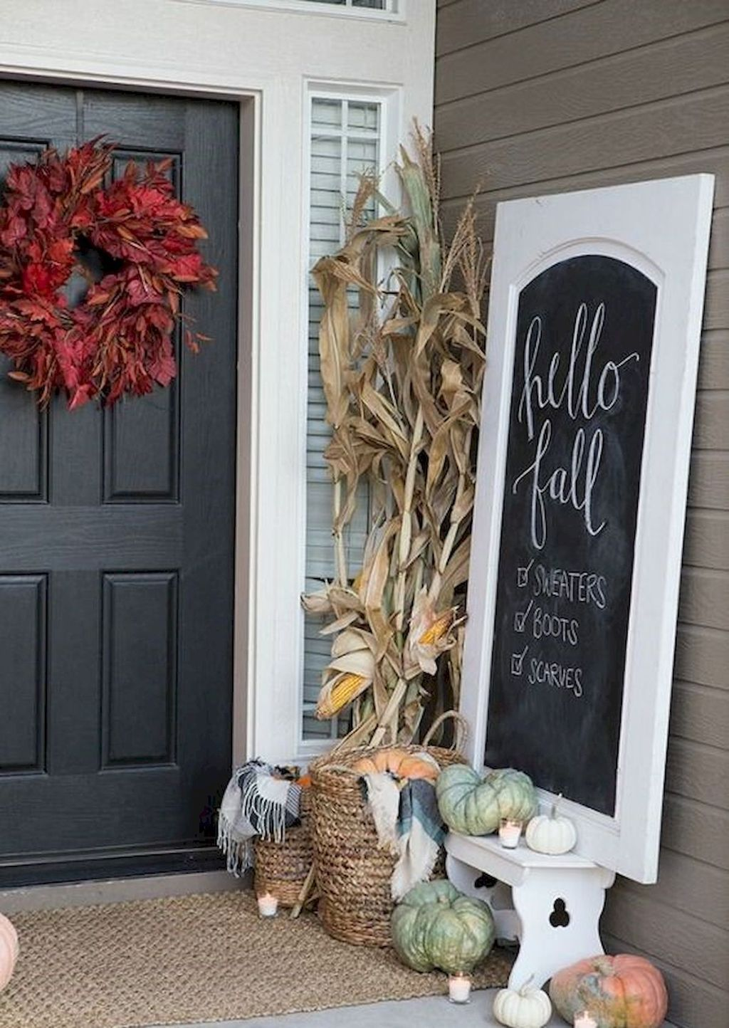 Simple Fall Porch Decorating Ideas 26