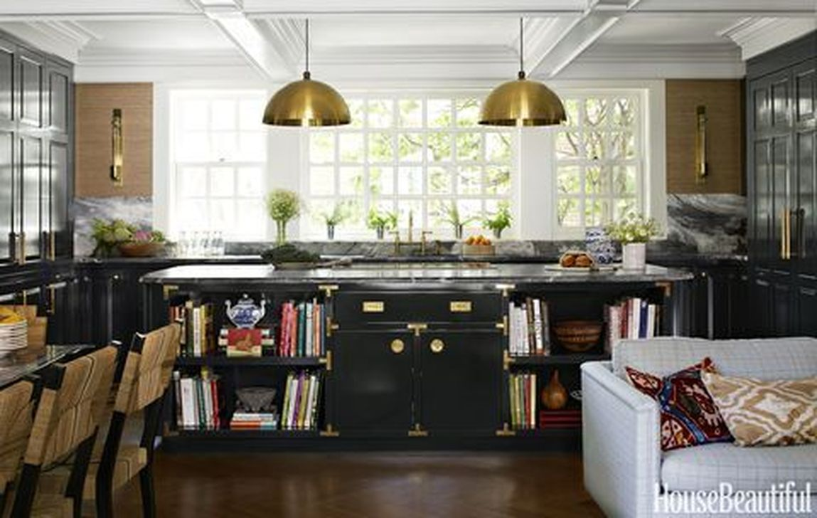 Stunning Black Kitchen Island Ideas 14