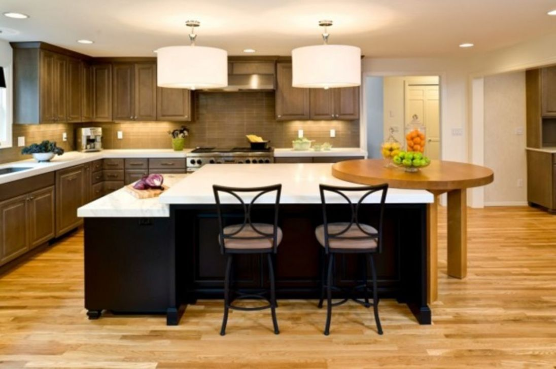 Stunning Black Kitchen Island Ideas 20