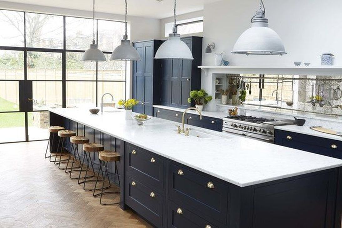 Stunning Black Kitchen Island Ideas 33