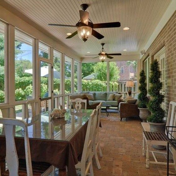The Best Enclosed Porch Design And Decor Ideas 03