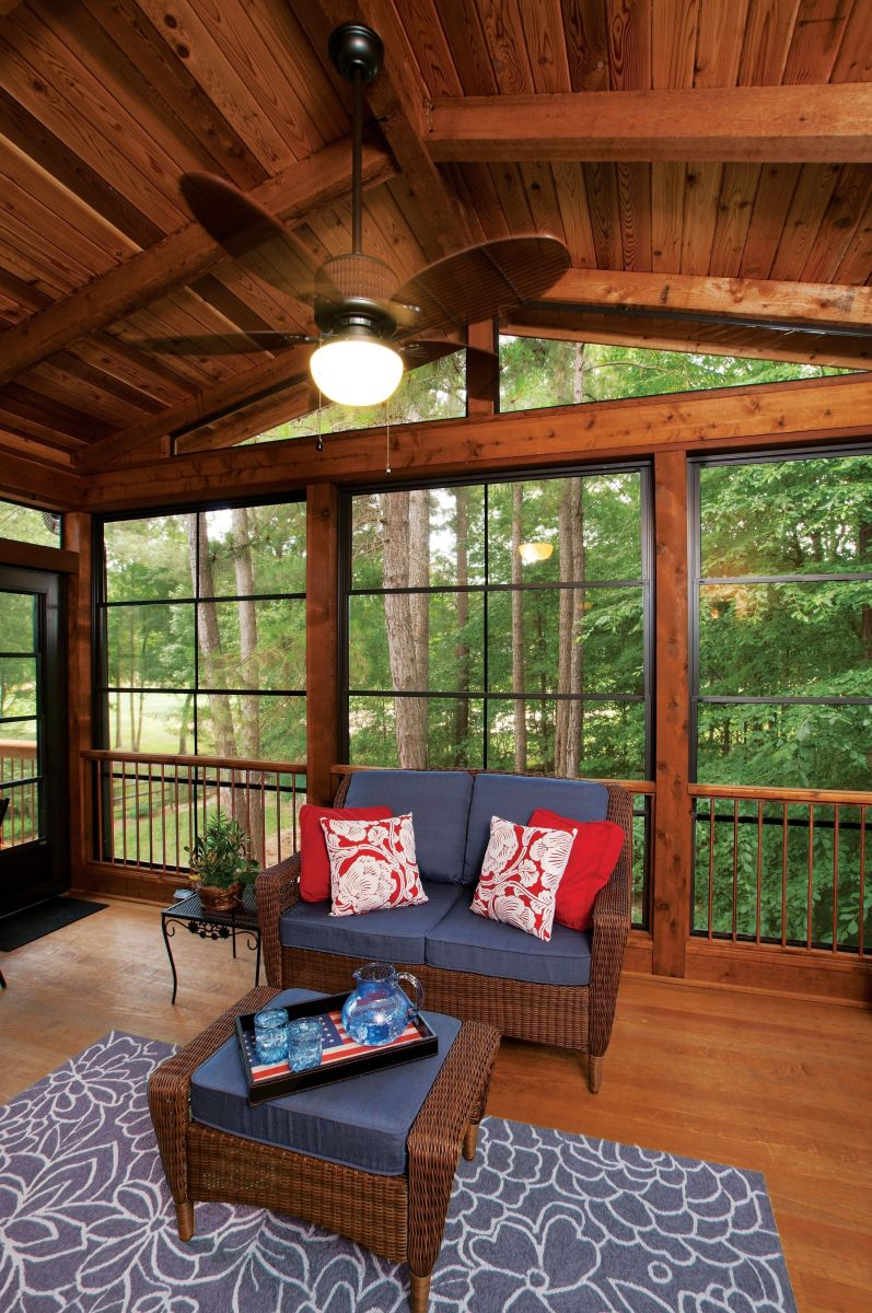 The Best Enclosed Porch Design And Decor Ideas 05