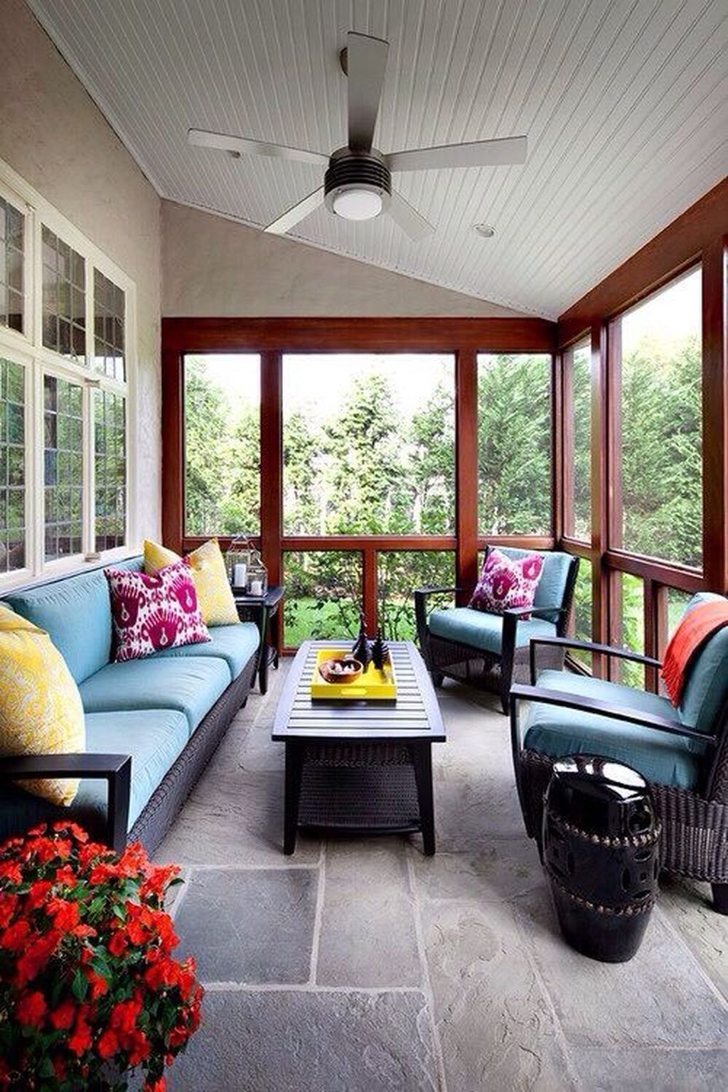 The Best Enclosed Porch Design And Decor Ideas 07