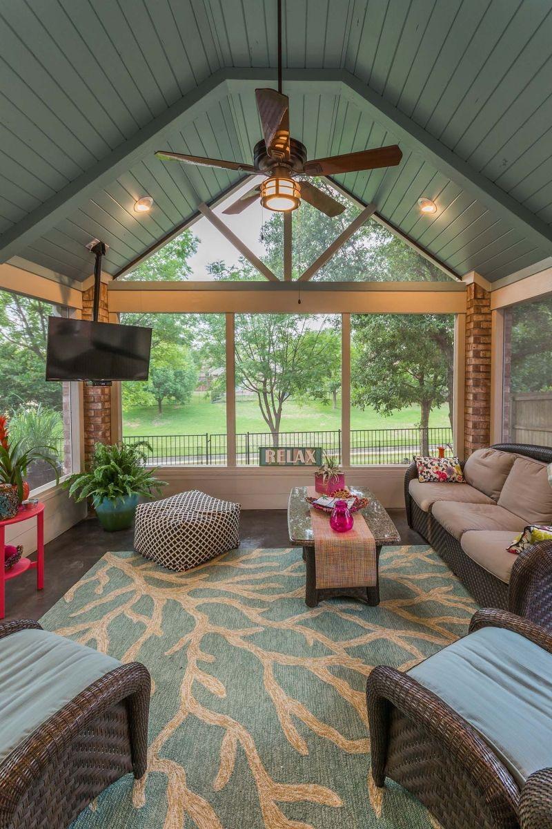 The Best Enclosed Porch Design And Decor Ideas 33
