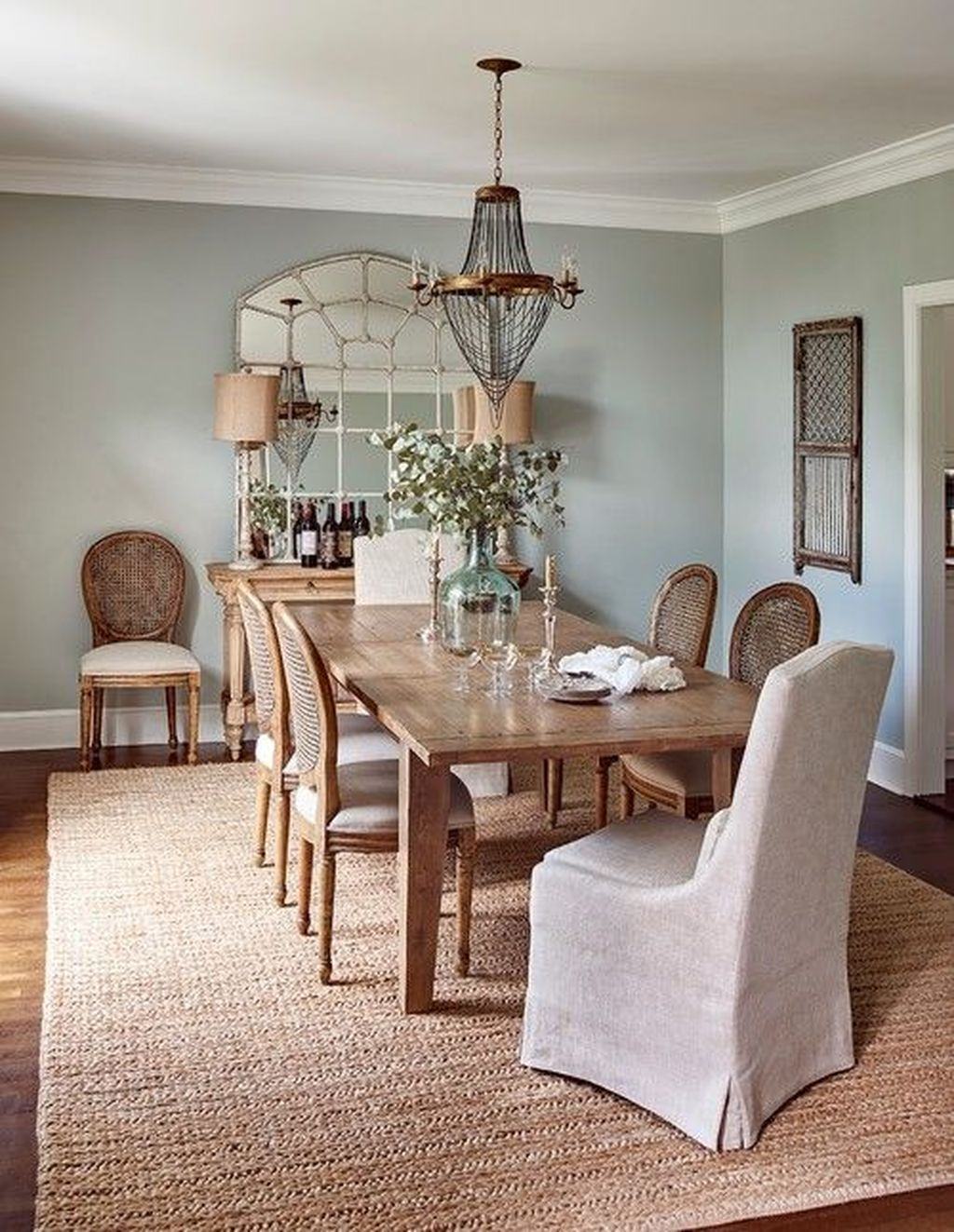 The Best Rustic Dining Room Decoration Ideas 04