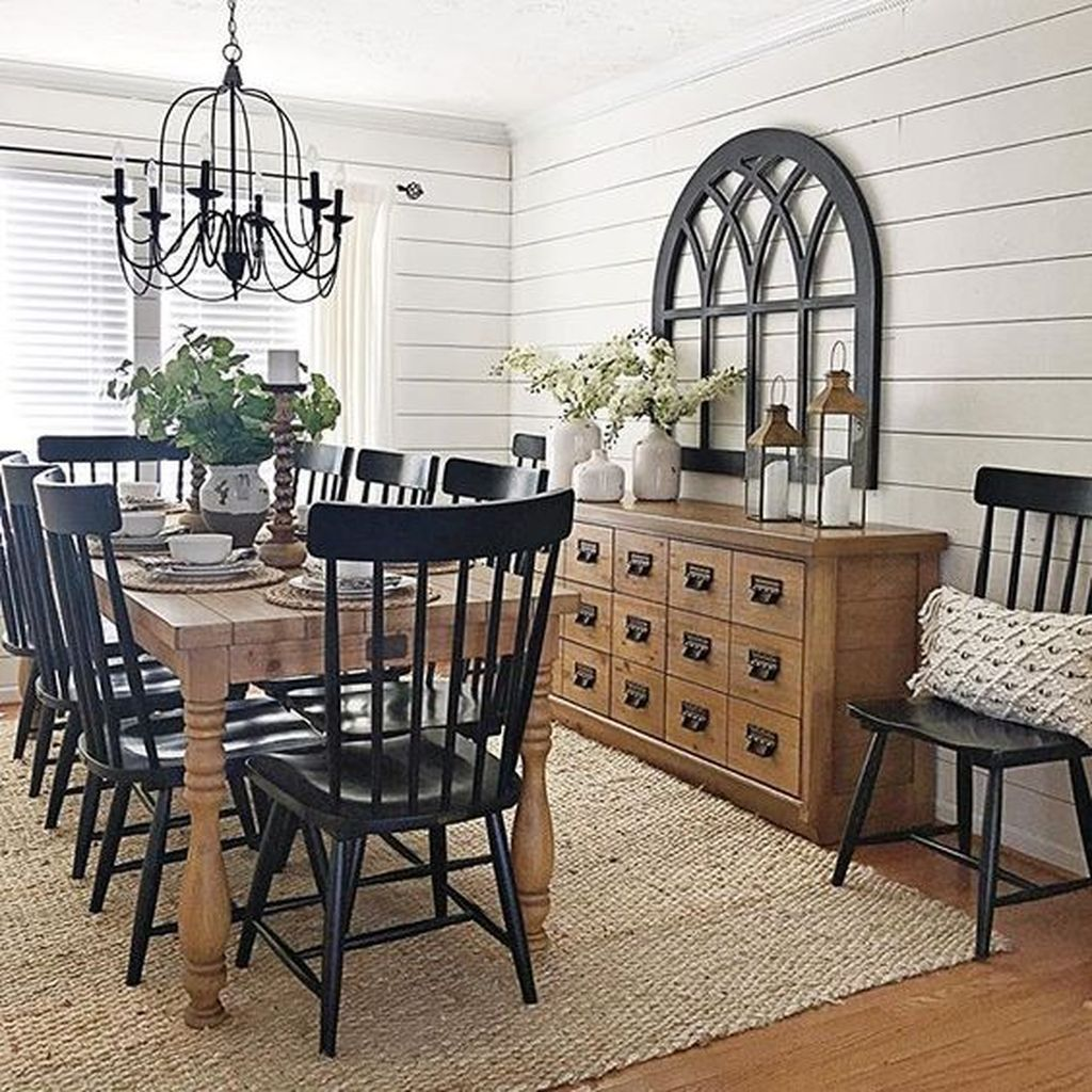The Best Rustic Dining Room Decoration Ideas 07