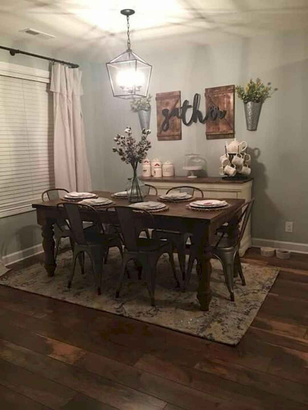 The Best Rustic Dining Room Decoration Ideas 34